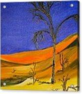 Golden Sand Dune Left Panel Acrylic Print