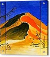 Golden Sand Dune_triptych Acrylic Print