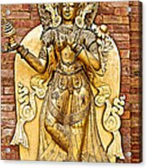 Golden Sculpture In A Hindu Temple In Patan Durbar Square In Lalitpur-nepal Acrylic Print