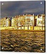 Golden Seine Acrylic Print