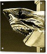 Golden Shark In Ocean City Acrylic Print
