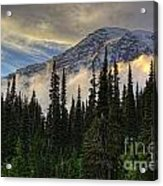 Golden Shawl On The Mountain Acrylic Print