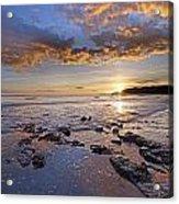 Golden Sky Lyme Regis Acrylic Print