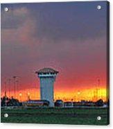 Golden Spike Sunset Panorama Acrylic Print