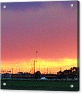 Golden Spike Sunset Acrylic Print