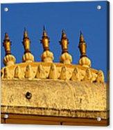 Golden Spires Udaipur City Palace India Acrylic Print