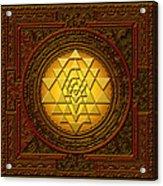 Golden  Sri Lakshmi Yantra Acrylic Print