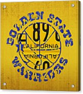 Golden State Warriors Basketball Team Retro Logo Vintage Recycled California License Plate Art Acrylic Print