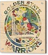 Golden State Warriors Logo Art Acrylic Print