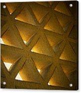 Golden Stonework  Acrylic Print