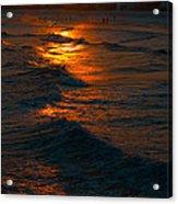 Golden Sun Set Acrylic Print