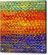 Golden Sunrise - Abstract Relief Painting Original Metallic Gold Textured Modern Contemporary Art Acrylic Print