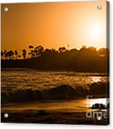Golden Sunset At Laguna Acrylic Print