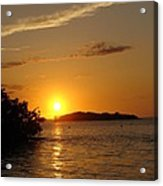 Golden Sunset In Keys Acrylic Print by Ella Char