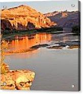 Golden Sunset On The Colorado Acrylic Print