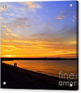 Golden Sunset On The Harbor Acrylic Print