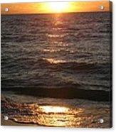 Golden Sunset At Destin Beach Acrylic Print
