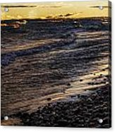 Golden Superior Shore Acrylic Print
