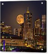 Golden Supermoon Acrylic Print