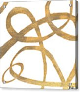 Golden Swirls Square II Acrylic Print