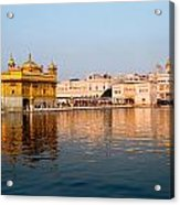 Golden Temple And Akal Takht Acrylic Print