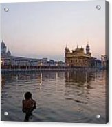 Golden Temple At Early Morning Acrylic Print