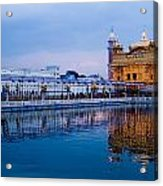 Golden Temple Blue Sky Acrylic Print