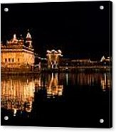 Golden Temple Reflected In Water Acrylic Print
