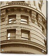 Golden Vintage Building Acrylic Print