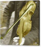 Golden Violin Acrylic Print