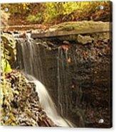 Golden Waterfall October In Ohio Acrylic Print