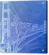 Golder Gate Bridge Inverted Acrylic Print