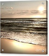Goldest Shoreline Acrylic Print by Jeffery Fagan