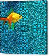 Goldfish Study 3 - Stone Rock'd Art By Sharon Cummings Acrylic Print