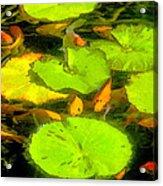 On Goldfish Pond Artwork Acrylic Print