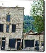 Goldrush Heritage Buildings In Dawson City Yukon Acrylic Print