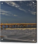 Goleta Beach And Pier Acrylic Print