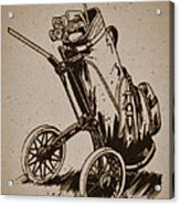 Golf Bag In The Grass  Acrylic Print