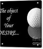Golf Ball On Black Acrylic Print