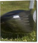 Golf Ball On Tee Hit By Driver Acrylic Print