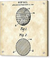 Golf Ball Patent 1906 - Parchment Acrylic Print
