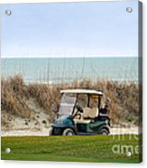Golf Cart At Kiawah Island Golf Course Acrylic Print