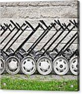 Golf Carts Acrylic Print