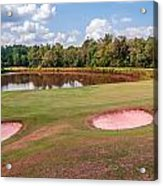 Golf Course Beautiful Landscape On Sunny Day Acrylic Print