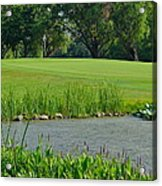 Golf Course Lay Up Acrylic Print by Frozen in Time Fine Art Photography