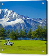 Golf Course Riederalp Swiss Alps Switzerland Acrylic Print