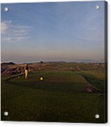 Golf Course With A Lighthouse Acrylic Print