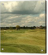 Golf Course With Clouds Acrylic Print