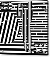 Golf Swing Maze  Acrylic Print