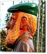 Golfer Profile Acrylic Print